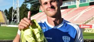 Jakub Matoušek po utkání v Příbrami, kde dal svůj první gól.